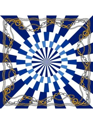 HELLENIC GLORY- Τετράγωνο Μεταξωτό γυναικείο Μαντήλι 70x70 cm
