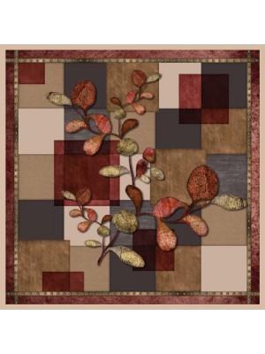 AUTUMN THEME- Τετράγωνο Μεταξωτό γυναικείο Μαντήλι 70x70 cm