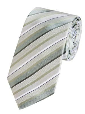 EPIC 0020 Ριγέ μεταξωτή χειροποίητη γραβάτα σε λαδί απόχρωση