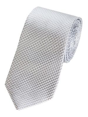 EPIC 0028 Γκρι ασημί μεταξωτή υφαντή μονόχρωμη γραβάτα