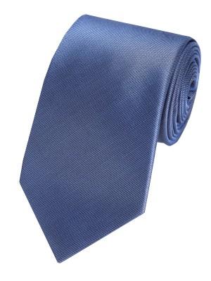 EPIC 00138 Μονόχρωμη μεταξωτή γραβάτα σε σκούρο μπλε χρώμα