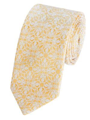 Γραβατες,Χειροποιητες γραβατες,Mεταξωτες γραβατες,EPIC 0388 κίτρινη Γραβάτα