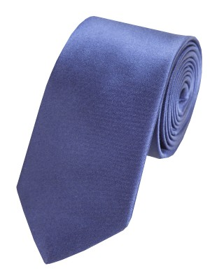 EPIC 0419 Σκούρα μπλε ολομέταξη σατέν γραβάτα για επίσημες εμφανίσεις