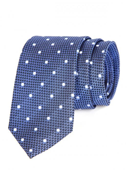Γραβατες,Μεταξωτες γραβατες, Χειροποιητες γραβατες,EPIC 0414 Γραβάτα μπλε με βούλες
