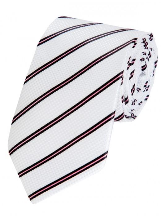 Γραβατες,Μεταξωτες γραβατες, Χειροποιητες γραβατες,EPIC 0406 Γραβάτα με μαύρες και ροζ ρίγες