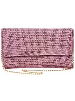 AMOUR χειροποίητη γυναικεία τσάντα ροζ