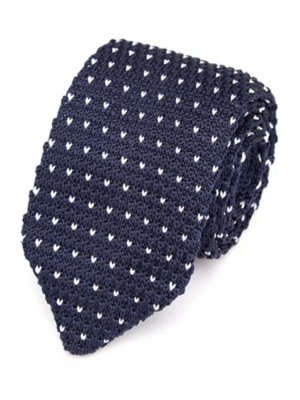 EPIC 0506 Μπλε πλεκτή γραβάτα πλάτους 7 cm