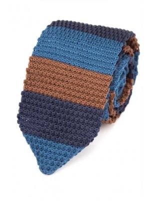 EPIC 0502 Ριγέ πλεκτή γραβάτα πλάτους 7 cm