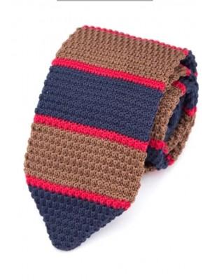EPIC 0503 Ριγέ πλεκτή γραβάτα πλάτους 7 cm