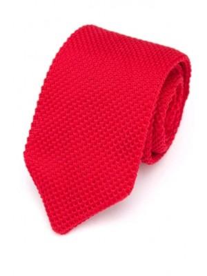EPIC 0501 Κόκκινη πλεκτή γραβάτα πλάτους 7 cm