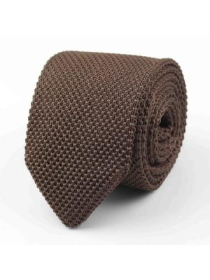 EPIC 0500b Καφέ πλεκτή γραβάτα πλάτους 7 cm
