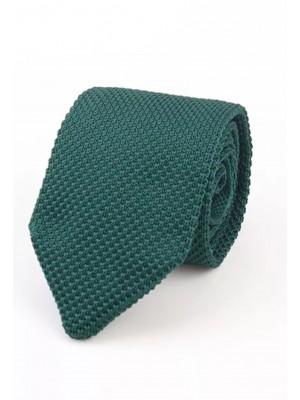 EPIC 0500a Πράσινη πλεκτή γραβάτα πλάτους 7 cm