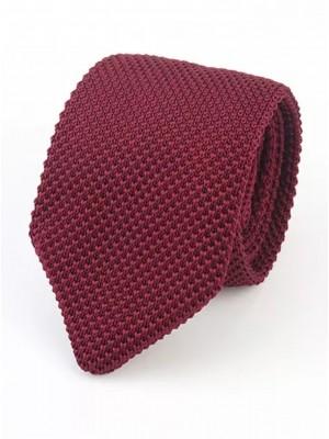 EPIC 0501a Κόκκινη πλεκτή γραβάτα πλάτους 7 cm