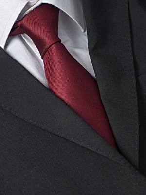 EPIC 0135 Μπορντό μονόχρωμη ολομέταξη υφαντή γραβάτα